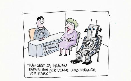 Valentinstag U2013 Was Machen Paare, Die In Schwierigkeiten Sind?   Ein Paar  Cartoons über Typische Situationen In Der Paartherapie.