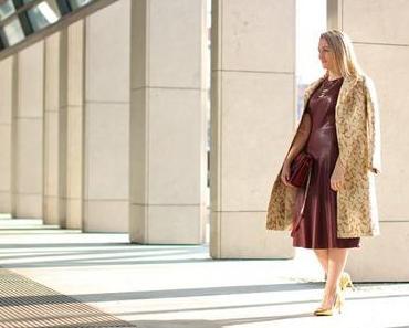 Leather dress in Marsala