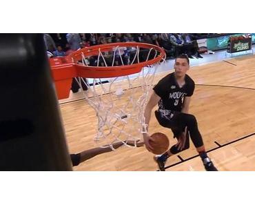 Phänomenaler Auftritt: Zach LaVine gewinnt Slam Dunk Contest 2015