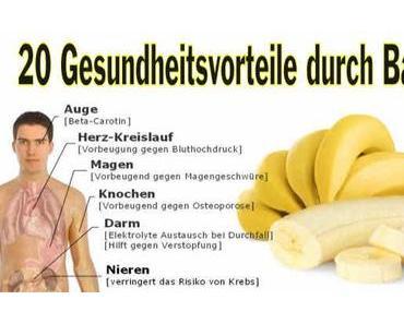 Bananen Helfen – 20 Krankheiten wo Bananen Helfen können