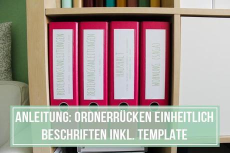Anleitung Ordnerrucken Mit Dem Computer Beschriften Inkl Template