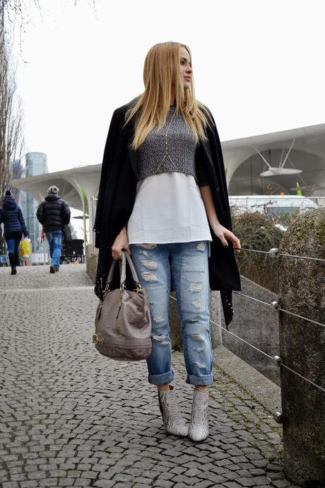 Layering over denim