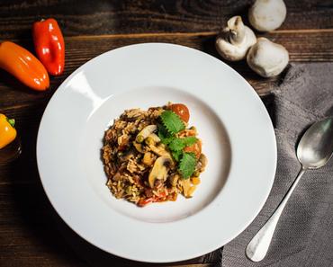 Gemüse Reis Blitzgericht