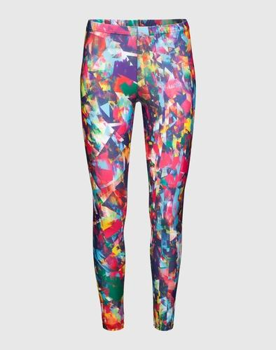 FRONT ROW SOCIETY Leggings mit Multicolor-Print Wind Damen pink/gelb/grün