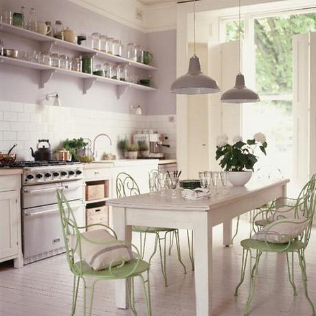 wohnidee vintage und pastell - Pastell Küche