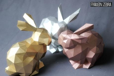 diy 3d origami hase osterhasen bausatz. Black Bedroom Furniture Sets. Home Design Ideas