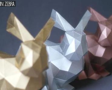 [DIY] 3D-Origami-Hase | Osterhasen-Bausatz