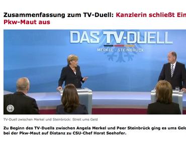 """""""Mit mir wird es keine PKW-Maut geben."""" Angela Merkel"""