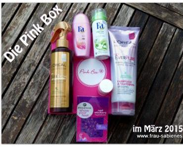 Die Pink Box im März 2015 – ausgepackt und ausprobiert