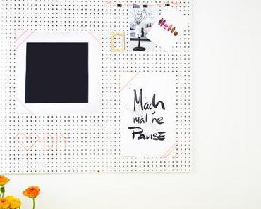 DIY Inspirationswand für das Home Office