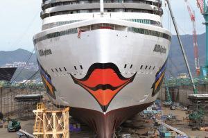 AIDAprima – Neues Flagschiff erhält strahlendes Lächeln