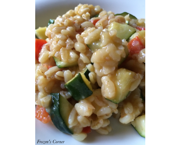 Gekocht: Weizen-Gemüse-Pfanne in der Krups Prep & Cook