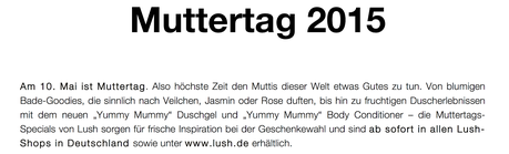 [Preview] Lush Muttertag 2015
