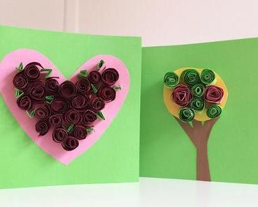 Idee zum Muttertag: Quilling-Kunst aus Papier