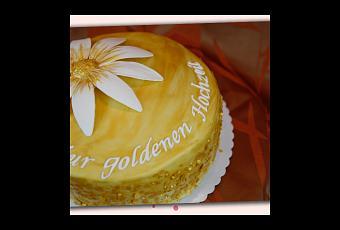 Goldene Hochzeit Mit Blume