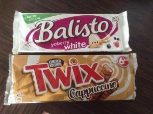 [Entdeckt] Twix Cappuccino und Balisto YoBerry White
