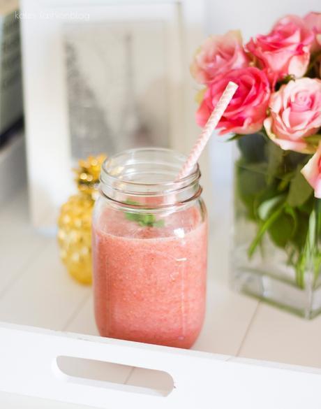 rezept wassermelone erdbeer smoothie. Black Bedroom Furniture Sets. Home Design Ideas