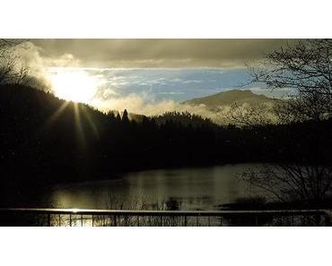 Bild der Woche: Stausee Mitterbach Sonnenuntergang
