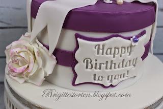 Torte Zum 60 Geburtstag In Purple Und Weiß
