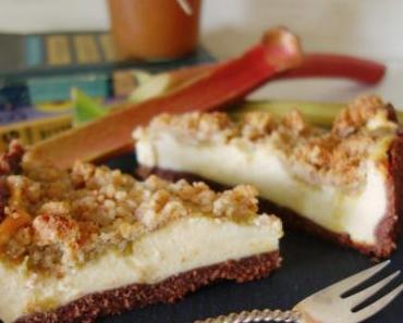 Rhabarber Cheesecake mit Streuseln & `Rhaperol` Konfitüre
