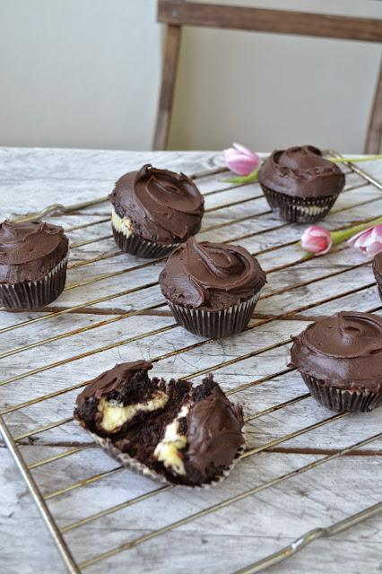 Chocolate-Cheesecake Cupcakes mit Schokofrosting