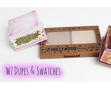 {W7 Dupes&Swatches}: Hollywood Bronze & Glow, Honolulu, The Honey Queen