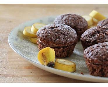 Schoko-Bananen-Muffins mit Quark