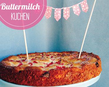Rhabarberkuchen mit Buttermilch