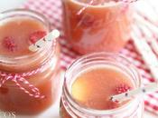 Himbeer-Nektarinen Eistee gesunder Durstlöscher