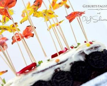 Rezept:Geburtstagstorte mit DiY Schmetterlingen